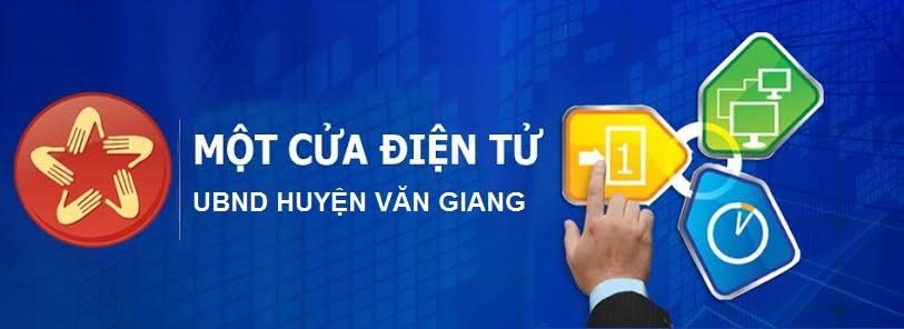 Một cửa điện tử huyện Văn Giang
